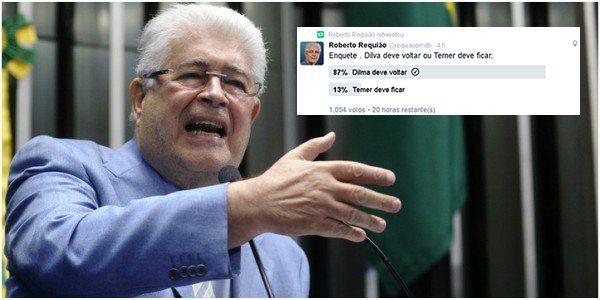 O senador Roberto Requião (PMDB-PR), um dos coordenadores da vota de Dilma Rousseff, garante que já são 40 senadores contrários ao afastamento definitivo da