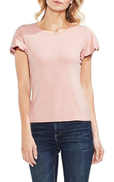 4a9cbcd0207 bubble sleeve tee by Vince Camuto. An everyday tee gets a feminine upgrade  with a