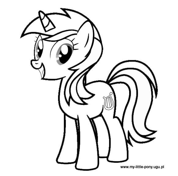 Lyra Heartstrings My Little Pony Coloring Pony Drawing Coloring Pages