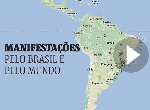 Munique abriga ato em apoio a protestos no Brasil com 500 pessoas