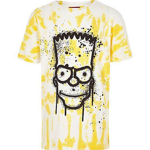 Boys yellow Bart Simpson tie dye T-shirt - print t-shirts - t-shirts / vests - boys