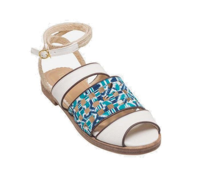 Bailey Sandal by Ugna. Your everyday comfortable peep toe pair. These sandals are the intersection of where traditional meets modern. Its mixture of batik fabric with the unconventional three straps create a one-of-a-kind look. Get it here: