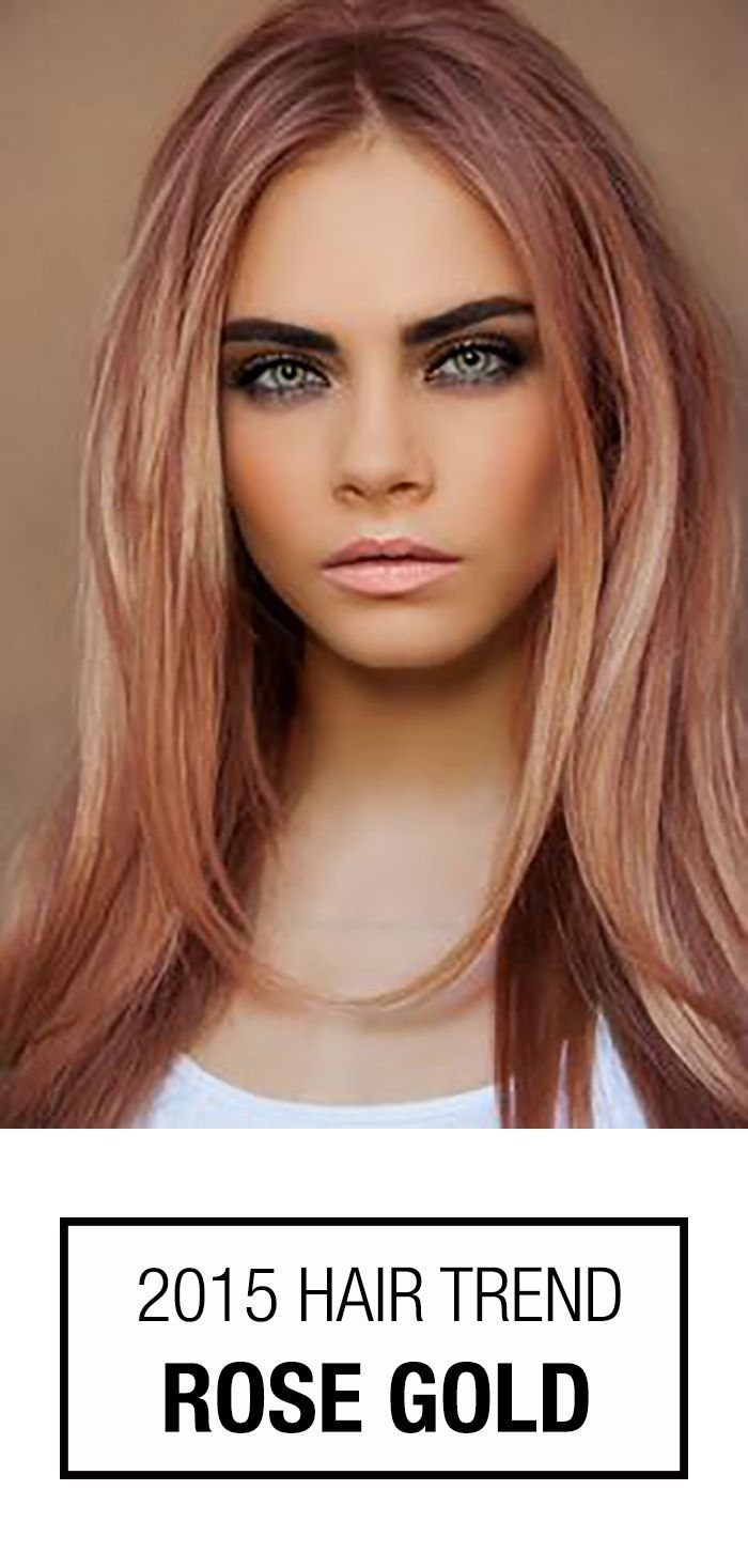Rose Gold Hair Color! This hair color trend isn't just for blondes like Cara Delevingne. How could you not love this perfect blend of pinkish copper hues?   thebeautyspotqld.com.au