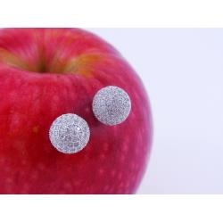These are the perfect Silver Earrings. A sparkling pave` of Cubic Zirconia catches the light from every angle. You can wear these earrings day or night and they will always look fantastic.