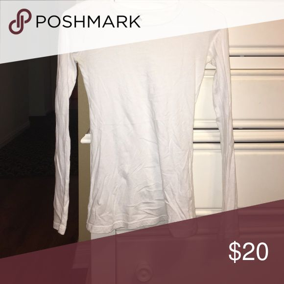 Classic white shirt Everyone needs just a plain white shirt and this one is great for adding an extra layer to be warm or a sexy tight fit bp Tops Tees - Long Sleeve