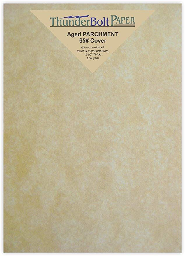 100 Old Age Parchment 65lb Cover Weight Paper 5 X 7 5x7 Inches Photo Card Frame Size Printable Cardstock Colored Parchment Cards Cover Paper Card Stock