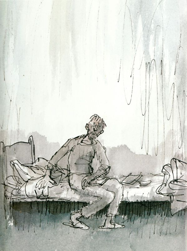 Michael Rosen's Sad Book: A Beautiful Anatomy of Loss, Illustrated by Quentin Blake   Brain Pickings