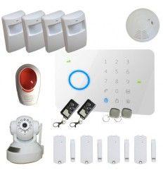 Alarme Maison sans fil GSM 4/5 pièces 100% sécurité