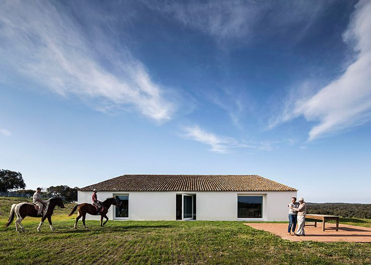 Former farmhouse transformed into a modern retreat.