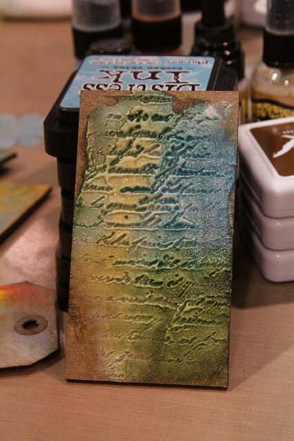 Wendy Vecchi Demos her Embossing Pastes | CHA Winter 2013