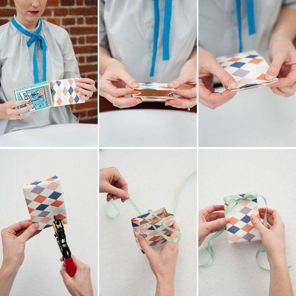 Wallpaper gift bags DIY