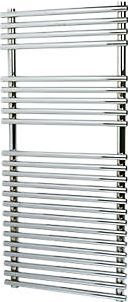 Kudox Flat Bar-on-Bar Towel Radiator Chrome 1100 1624Btu. 476W. Steel construction with a high quality, chrome plated finish. Supplied with wall brackets, bleed plugs and fixings. http://www.comparestoreprices.co.uk/january-2017-9/kudox-flat-bar-on-bar-towel-radiator-chrome-1100.asp