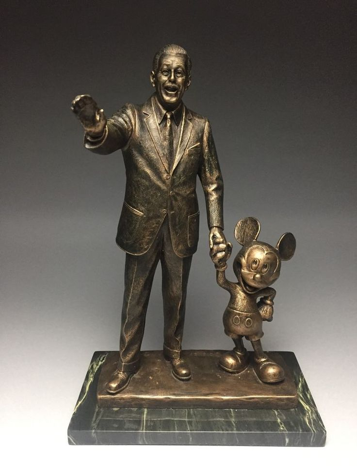 Walt Disney & Mickey Mouse Partners Bronze Statue Signed by Blaine Gibson Mint  | eBay #disney