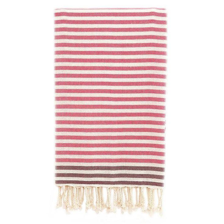 Linum Home Textiles Fun At The Beach Pestemal Beach Towel, Pink