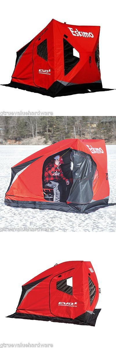 Ice Fishing Accessories 179996: New For 2016 Eskimo Evo 1 Man Crossover Ice Fishing Shelter House 22100 Fish BUY IT NOW ONLY: $249.99