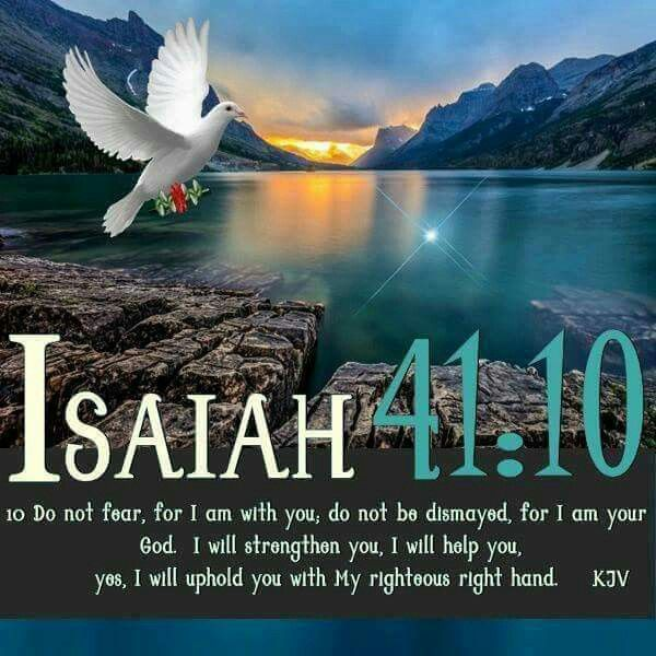 Isaiah 41:10 Do not fear...I am with you...