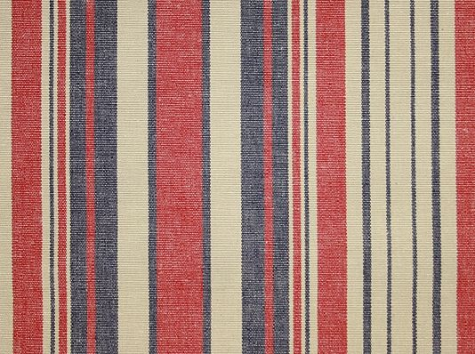 Bergerac Stripe Fabric  eira  Striped fabrics Striped curtains Navy fabric