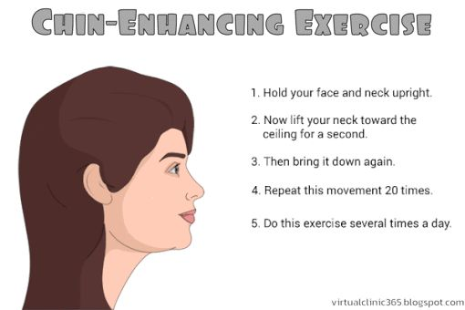 Chin-Enhancing Exercise