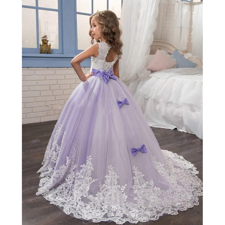 2017 New Desigin Party Formal Flower Girl Dress Princess Pageant Gowns Birthday Communion Toddler Kids TuTu Skirts for Weddings
