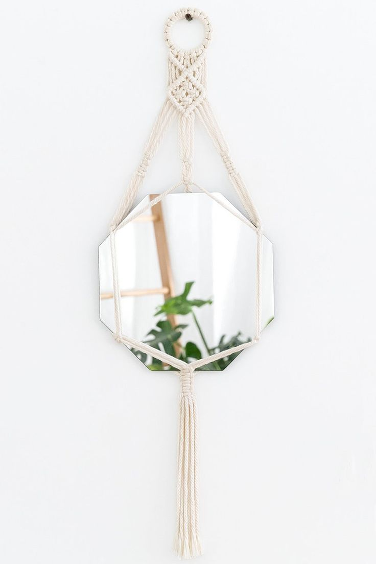 Artisan Boho Macrame Hanging Wall Mirror