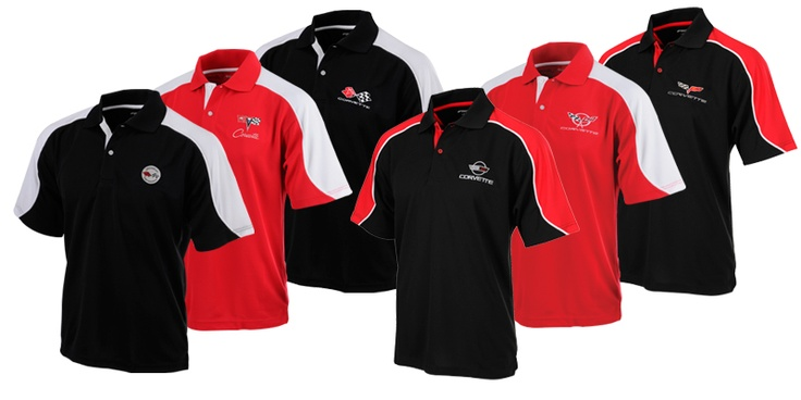 C1-C6 Embroidered Corvette Polo Racing Inspired - Mid America Motorworks