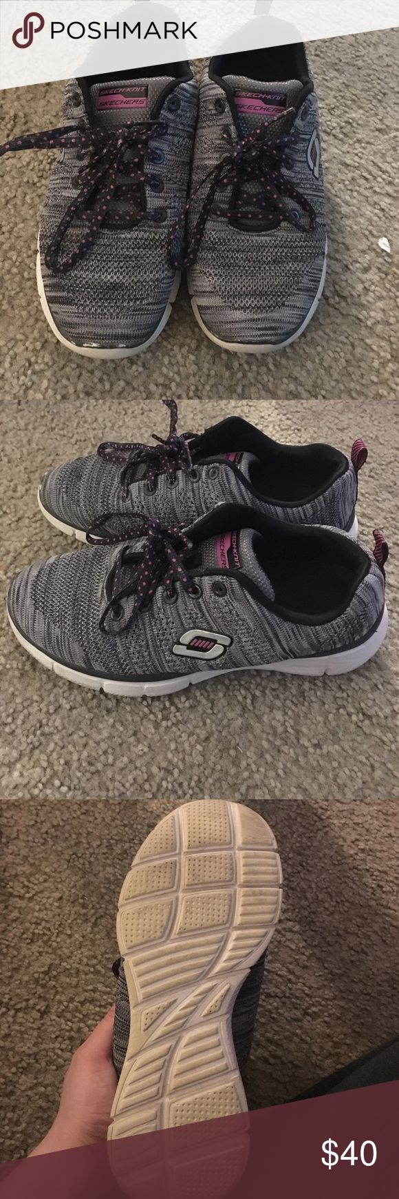Sketchers sneakers Worn one day to work didn't work out cause I stand on a concrete floor all day Skechers Shoes Sneakers