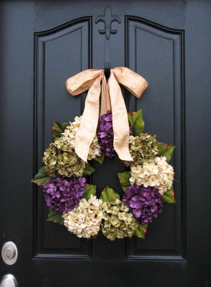 Spring Summer Wreaths, Hydrangea Wreath, Spring Summer Decorations, Online…