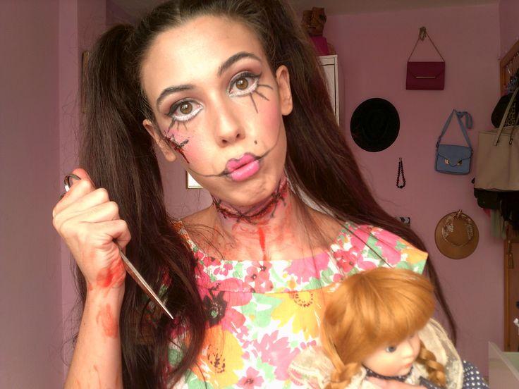 Halloween 2015 Muñeca diabolica (tutorial de maquillaje)-Selene
