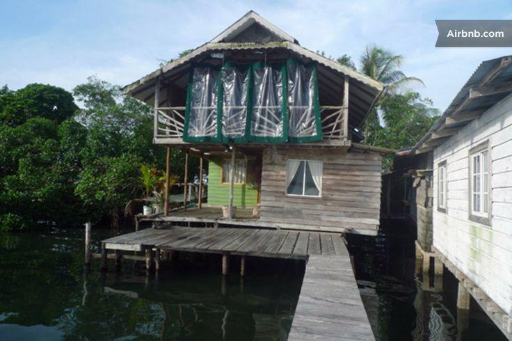 La Casa de Istmito over the sea. in Bocas del Toro District