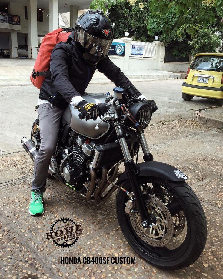 いいね!99件、コメント5件 ― HomeWorkShopさん(@homeworkshop.phnompenh)のInstagramアカウント: 「Riding Khmer New year ... Safe ride to Battambong dude #HondaCB400sf #Honda #CB400sf…」