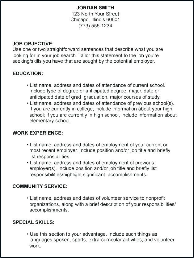 employment objectives examples on resumes