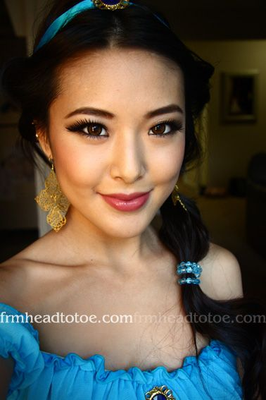 tutorial on how to do Jasmine's (from Aladdin) makeup #lovejenfrmheadtotoe p.s. isn't she freakin' gorgeous?!