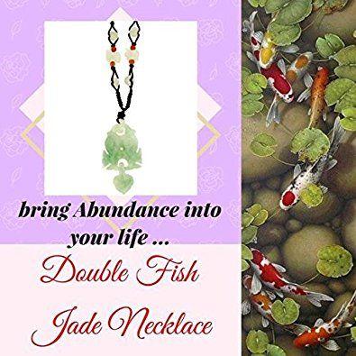 Double Koi Fish with Heart Handmade Jade Necklace | Amazon.com