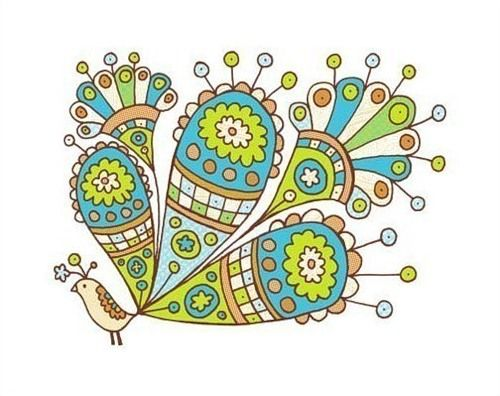 Рисунки павлинов