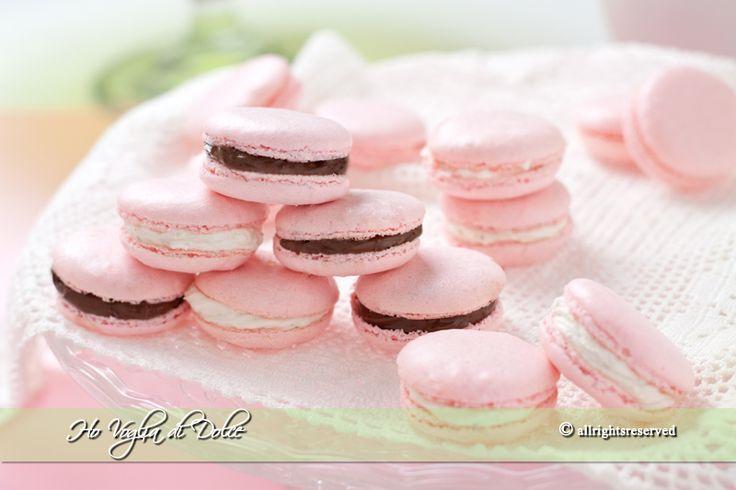 Macarons con ganache al cioccolato- Ho Voglia di Dolce blog