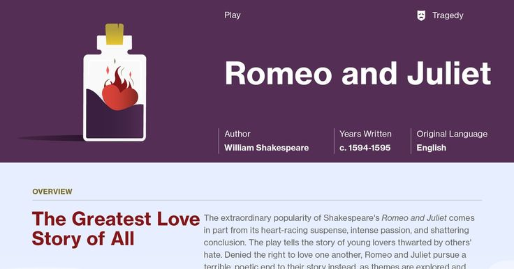 a literary analysis of the character romeo in romeo and juliet by william shakespeare Romeo and juliet is a famous tragedy written by william shakespeare the plot  is based  specific characters, such as the nurse and mercutio the plot is set in .