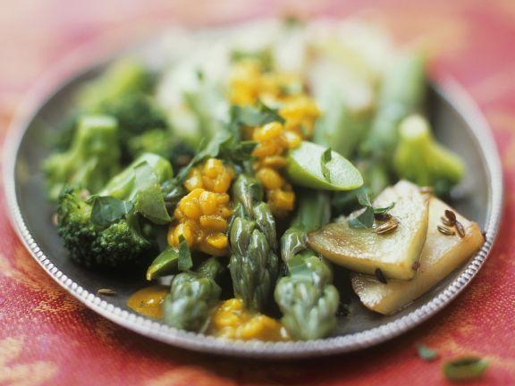 Gemüse und Soße aus Mungbohnen ist ein Rezept mit frischen Zutaten aus der Kategorie Sprossgemüse. Probieren Sie dieses und weitere Rezepte von EAT SMARTER!
