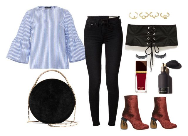 """""""Corset rocks!"""" by lawastyle on Polyvore featuring MDS Stripes, rag & bone, Dries Van Noten, Eddie Borgo and Tom Ford"""