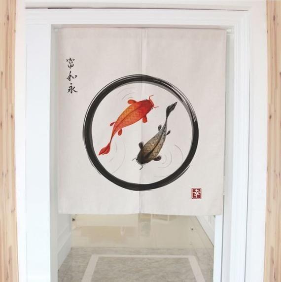 Custom Chinese Style Door Curtain Printed Noren Curtain Panel