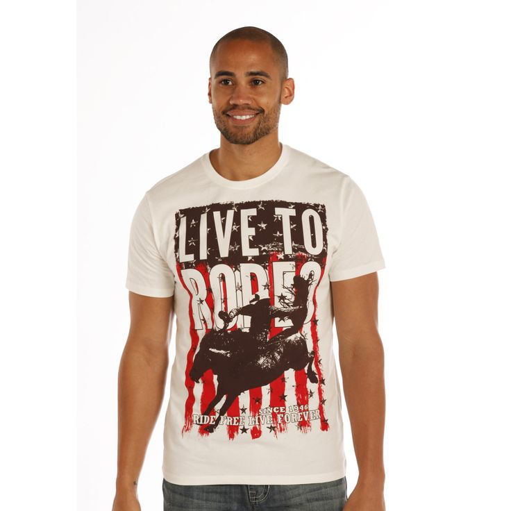 Rock & Roll Cowboy Live To Rodeo Graphic Tee