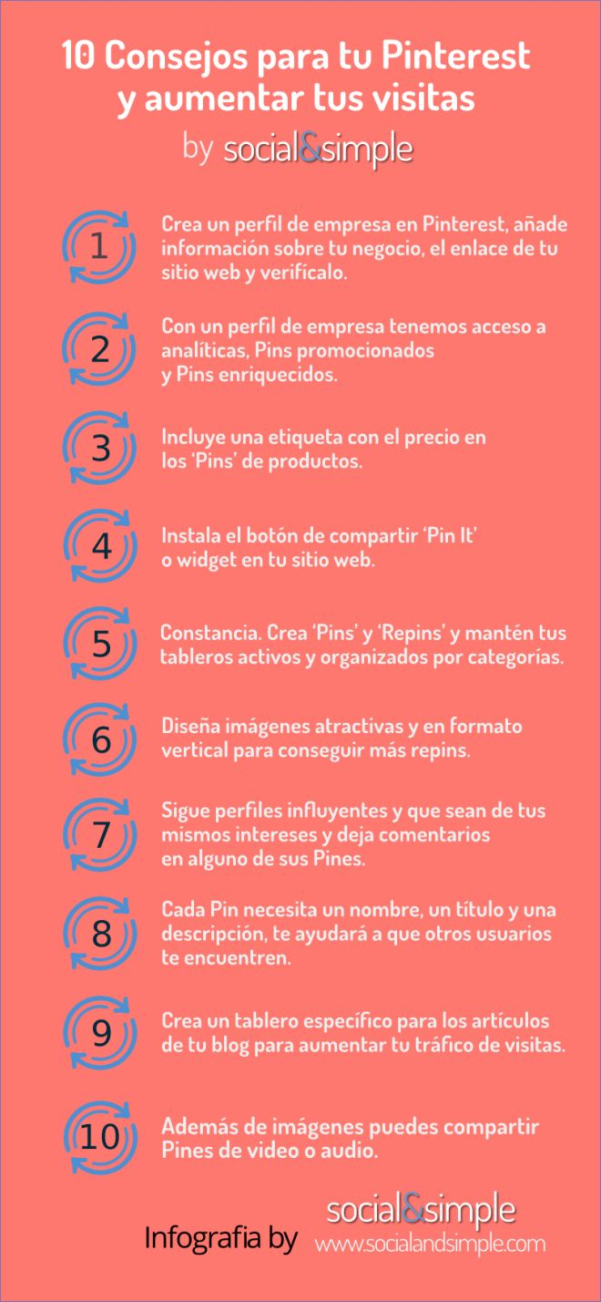 10 consejos para tu Pinterest #infografia #infogaphic #socialmedia