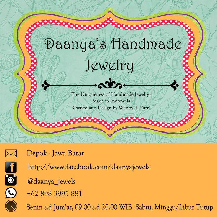 """Daanya's Handmade Jewelry  Menyediakan berbagai macam aksesoris seperti kalung, gelang, bros dan peniti hijab. Semua aksesoris yang dijual di sini adalah asli buatan dan rangkaian tangan pemiliknya sendiri.  Seperti logonya, """"The Uniqueness of Handmade Jewelry"""", kami berupaya model-model aksesoris yang kami buat dan jual di sini tidak akan sama persis satu dengan yang lainnya.   Designer and Owner : Wenny Indriyarti Putri #daanyajewels #handmadejewelry"""