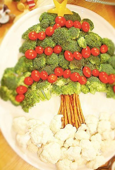 Broccoli Christmas Tree - table setting