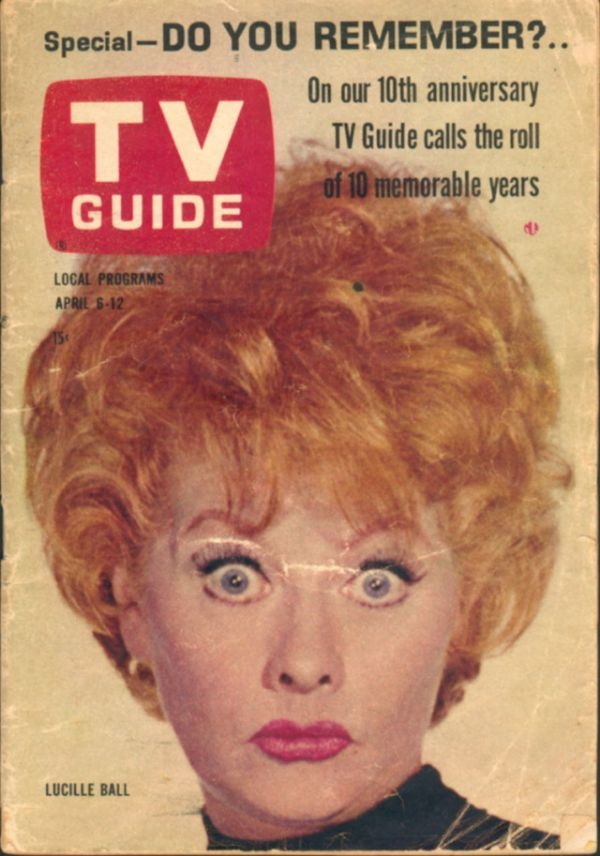 Lucille Ball - TV Guide Magazine [United States] (6 April 1963 ...