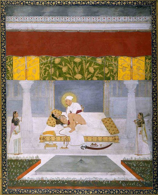 A painting of Muhammad Shah having sex with a woman