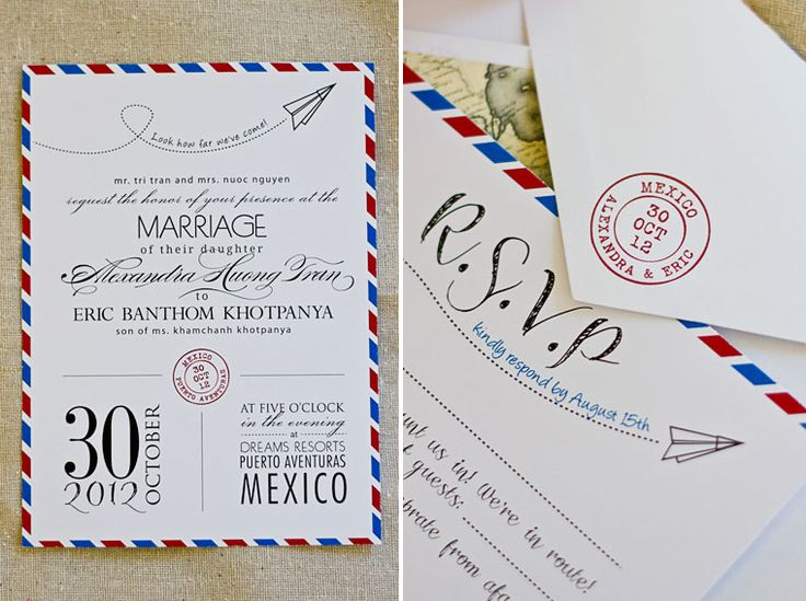 Destination Wedding Invitations Etsy