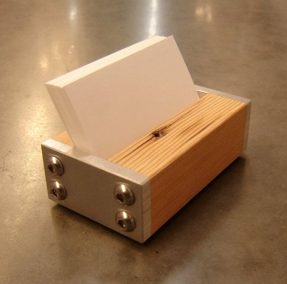 Woodworking business card holder