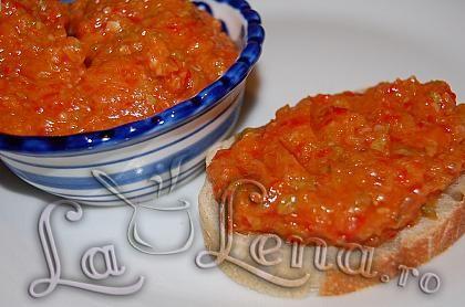 Courgette zacusca - Zacusca de dovlecei(varianta rapida si sanatoasa)