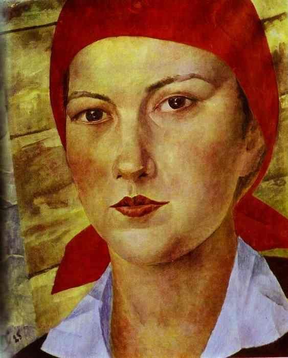 """Girl With the Red Bandana""....Kuzma Petrov Vodkin"
