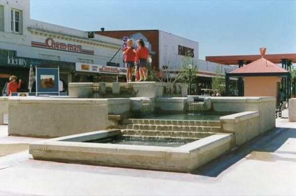 Maude Street Mall Shepparton and water feature